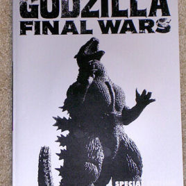 Theater Exclusive Godzilla Final Wars CD Movie Program Book