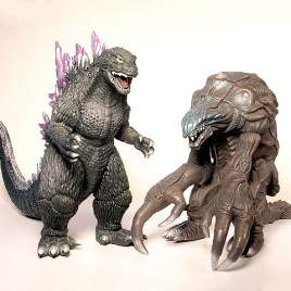 Godzilla 2000 & Orga Battle Sound Battery Powered Figures MINT