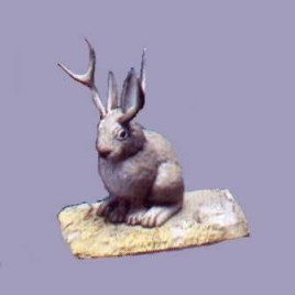 Mystery Museum Series #3 Texas Jackalope Collectible figure RARE