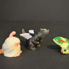 Mothra Figure Set 2 Garu Garu, Ghogo Finger Puppets Mini Toys