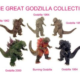 Godzilla Figure 6 Piece History of Godzilla Figure Box Set Collection