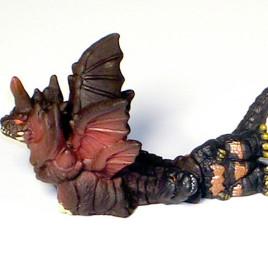 Godzilla 1995 Toy Battling Destroyer SD Bandai 2005 Diorama