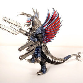 Gigan 2005 Figure Powered Up Chainsaw Arms with Tag