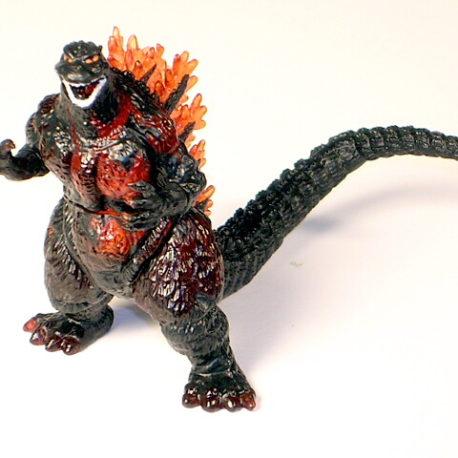 Godzilla High Grade Set 4 Burning Godzilla Figure Rare