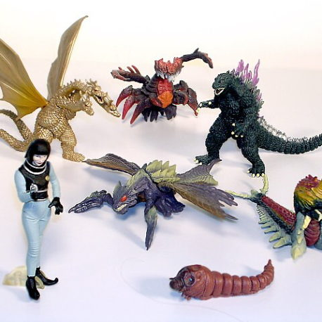 Godzilla High Grade Set 7 Bandai 7 Pieces with Megaguirus ...
