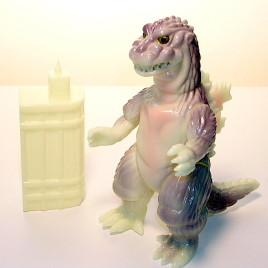 Super Festival 2002 Parababy Glow in the Dark Godzilla Figure 54 with Tower