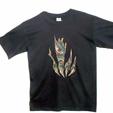 Clawmark Toys Tee Shirt Black Children Small Size 6-8