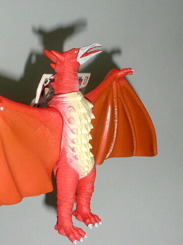 Toho Kaiju Fire Rodan Figure Blue With Tag 1998 Production