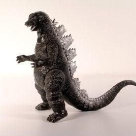 Yamakatsu Godzilla Action Figure 1983 Vintage Silver Fin