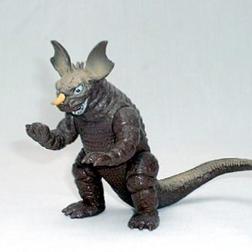 Yamakatsu Baragon Figure 1983 Vintage Figure with Sticker