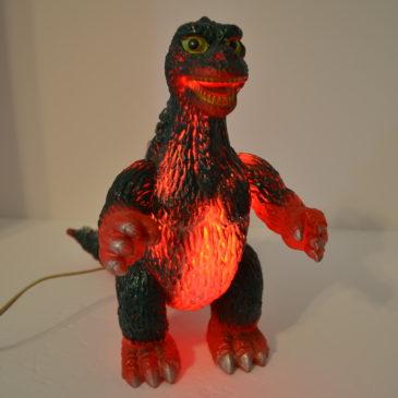 Godzilla Blinking Lamp by Beetland 1984 Rare