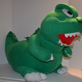 Godzilla Huge Plush Kids Ride/Sit SEGA 1994 RARE Sound Effects Figure
