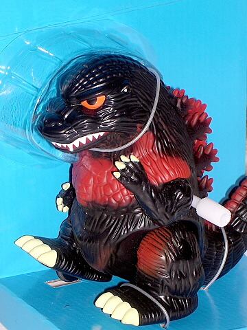 Burning Godzilla Windup Walker Figure Banpresto 1995