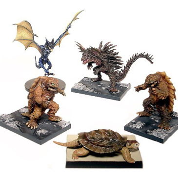 Gamera Little Braves Hyper Figure 5 piece Diorama Set