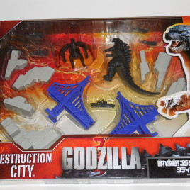 Godzilla Destruction city play set bandai Japan version 2014