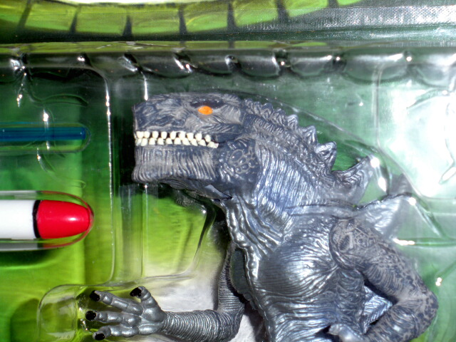 Godzilla Figure Usa 1998 Spring Loaded Set With Helicopter