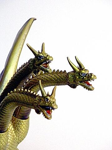 King Ghidorah Figure Bandai 1964 Bandai 1988 With Tag Hard