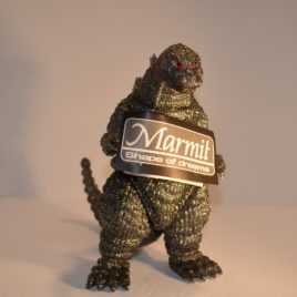 Marmit Lottery Extremely RARE Heisei Destroyer Godzilla Figure Silver Gray Glitter