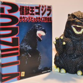 Roaring Sound Large Godzilla Bank Yutaka 1996 Rare in Box