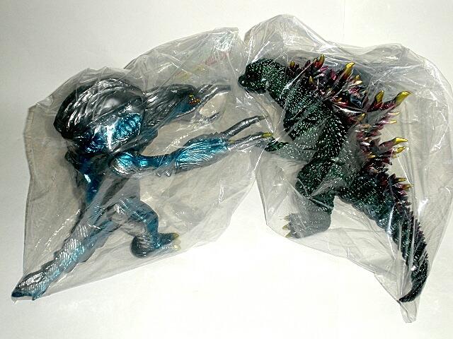 Orga Godzilla 2000 Figure Set Marmit 2011 Mint In Bags