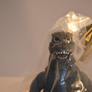 Hazawa Gumi Godzilla 1975 Gray Mint in Bag with Header