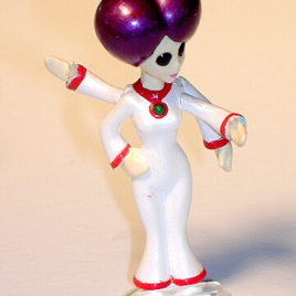 Choc O Vader 4 Armed Purple Hair Bell Bottom Mini Alien by Tomy