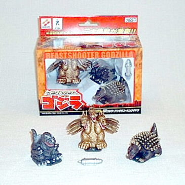 Beast Shooters Super Deformed Godzilla 1954 Three Pack