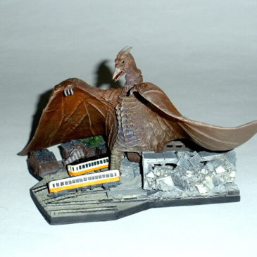 Cast Co. 1956 Rodan Crushing Train Station Diorama