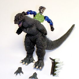 Godzilla Final Wars 2005 Microman Play Set by Bandai