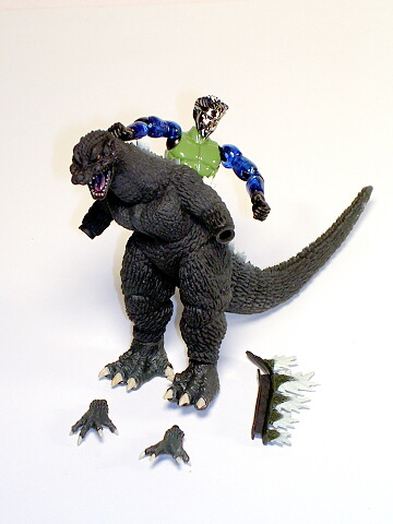 Godzilla Final Wars 2005 Microman Play Set By Bandai