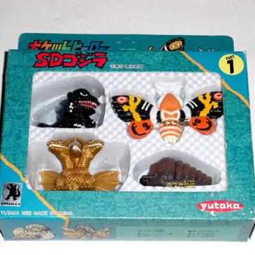 SD Godzilla 4 Mini Figure Box Set Part 1 Yutaka 1993 in Box