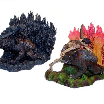 Art Works Collection 2 Sci-Fi Toho Frankenstein with Baragon Diorama Set