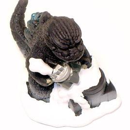 Bandai 2003 SD Godzilla and Power Plant 1984 Mini Figure