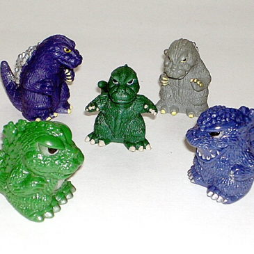 Super Deformed Godzilla Mixed Lot of Five Figures Lot 1