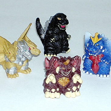 Super Deformed Godzilla Mixed Lot of Five Figures Lot 3