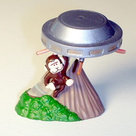 Choc O Vaders UFO Abducting Monkey Mini Diorama by Tomy