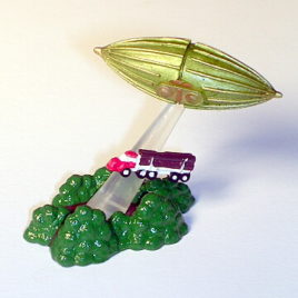 Choc O Vaders UFO Mothership Beaming Logging Truck Mini Diorama