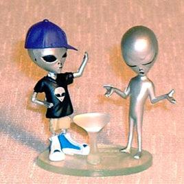 Collect Club Series 2 Grey Alien boy in disguise Purple Cap