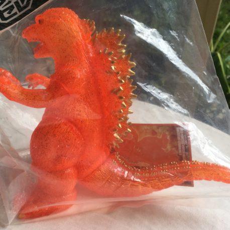 Hazawa Gumi 2006 Desu Goji Burning Godzilla 1995 Orange Glitter Mint with Header