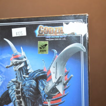 Gigan 2005 Diecast with Chainsaw Arms Bandai Box Damaged