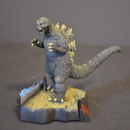 Yuji Sakai Diorama 1 Godzilla 1964 vs Mothra with building