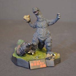Yuji Sakai Diorama 2 Godzilla 1964 Godzilla vs Mothra with rock