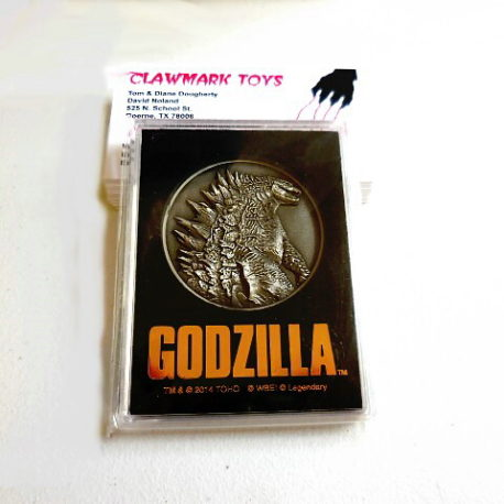 Theater Exclusive Godzilla 2014 Medallion in Case