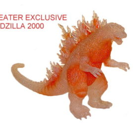 Godzilla 2000 Theater Exclusive Figure Orange Glitter Mint with Tag