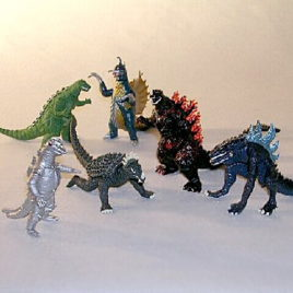 Godzilla High Grade Set 4 Bandai 6 Piece Set with Insert Rare