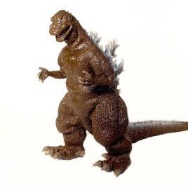 Godzilla 1954 Figure Brown and White by Banpresto