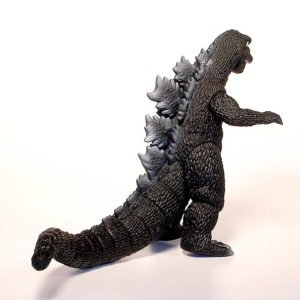 Movie Monster series Godzilla Action Figure 1968 with Tag Bandai