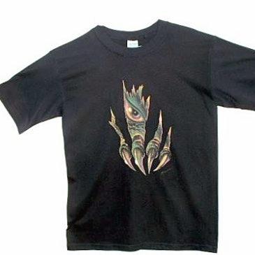 Clawmark Toys Tee Shirt Black Children Small Size 6-8