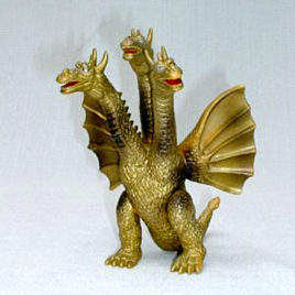Yamakatsu King Ghidorah Figure 1983 Vintage Hard to Find
