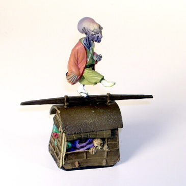 Kaiyodo Yokai Series 1 Monk and Spooks Color Version